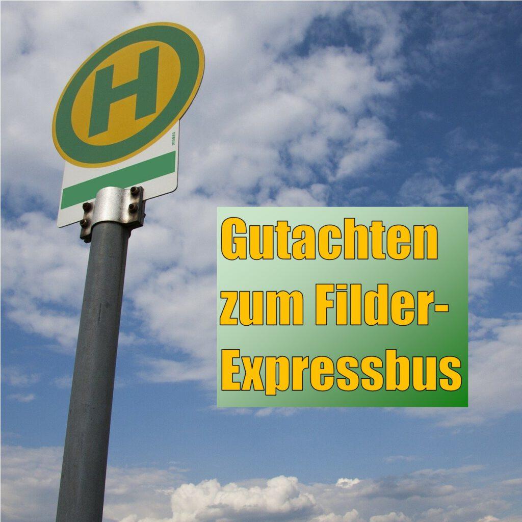 Gutachten zum Filder-Expressbus: Rund 2000 Fahrten pro Tag erwartet